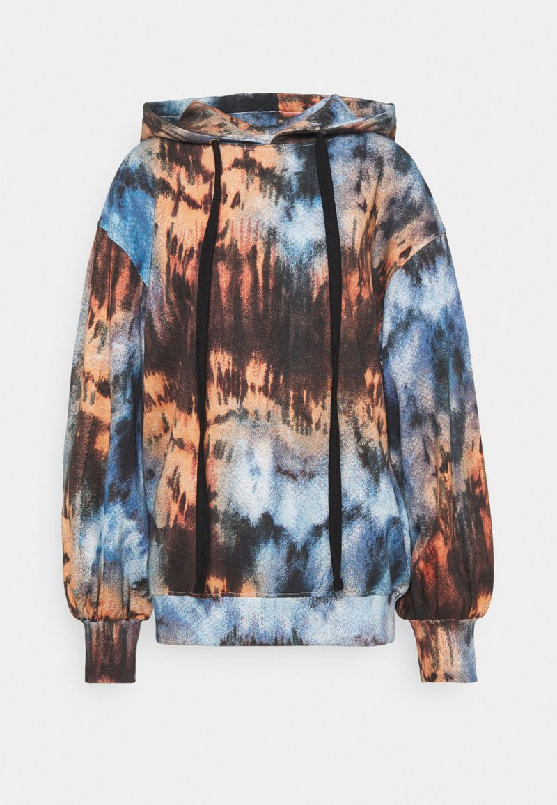 Missguided - TIE DYE OVERSIZED BALLON SLEEVE HOODY - Sudadera - multi