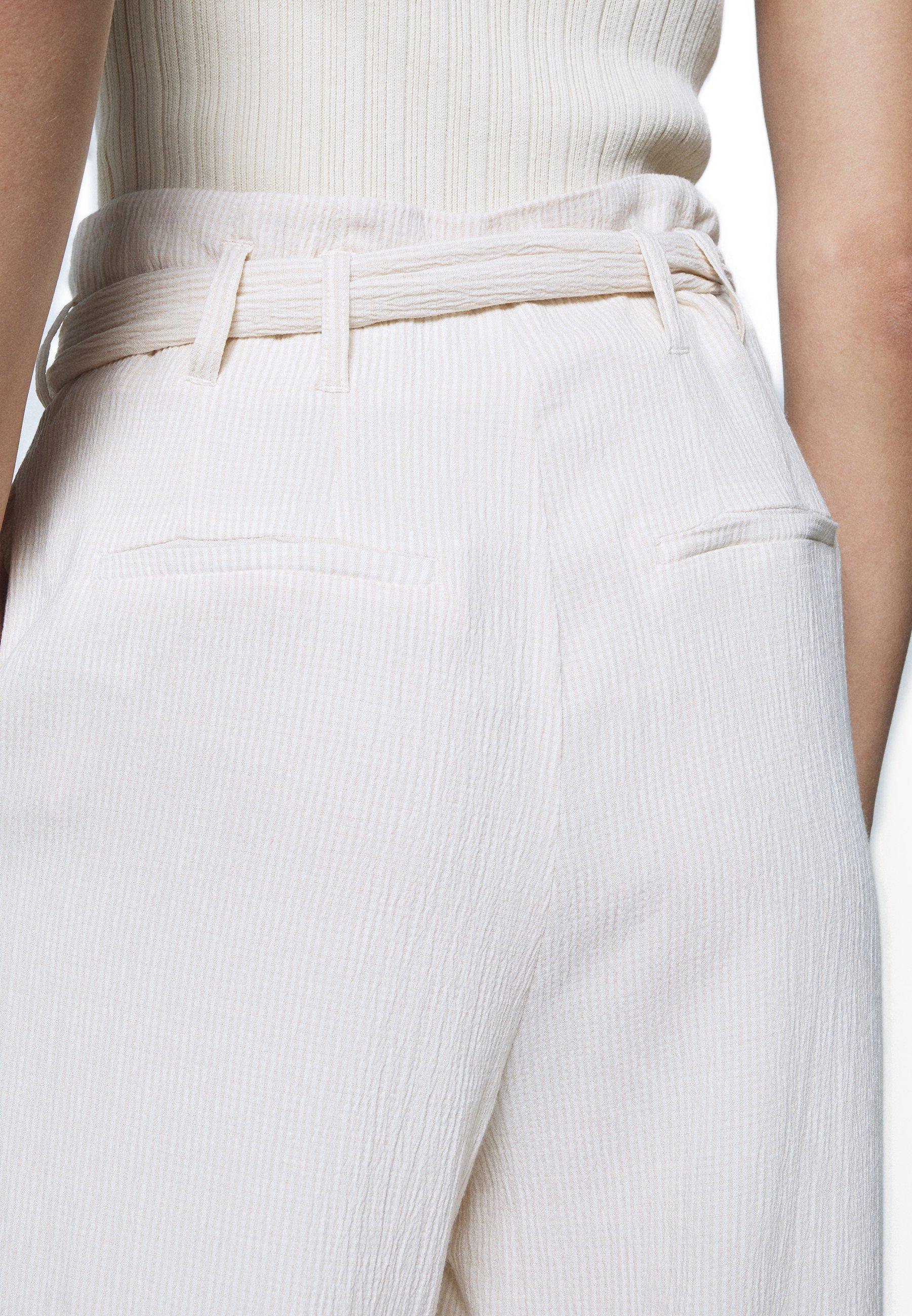 Samsøe Samsøe NELLIE TROUSERS - Bukse - warm white