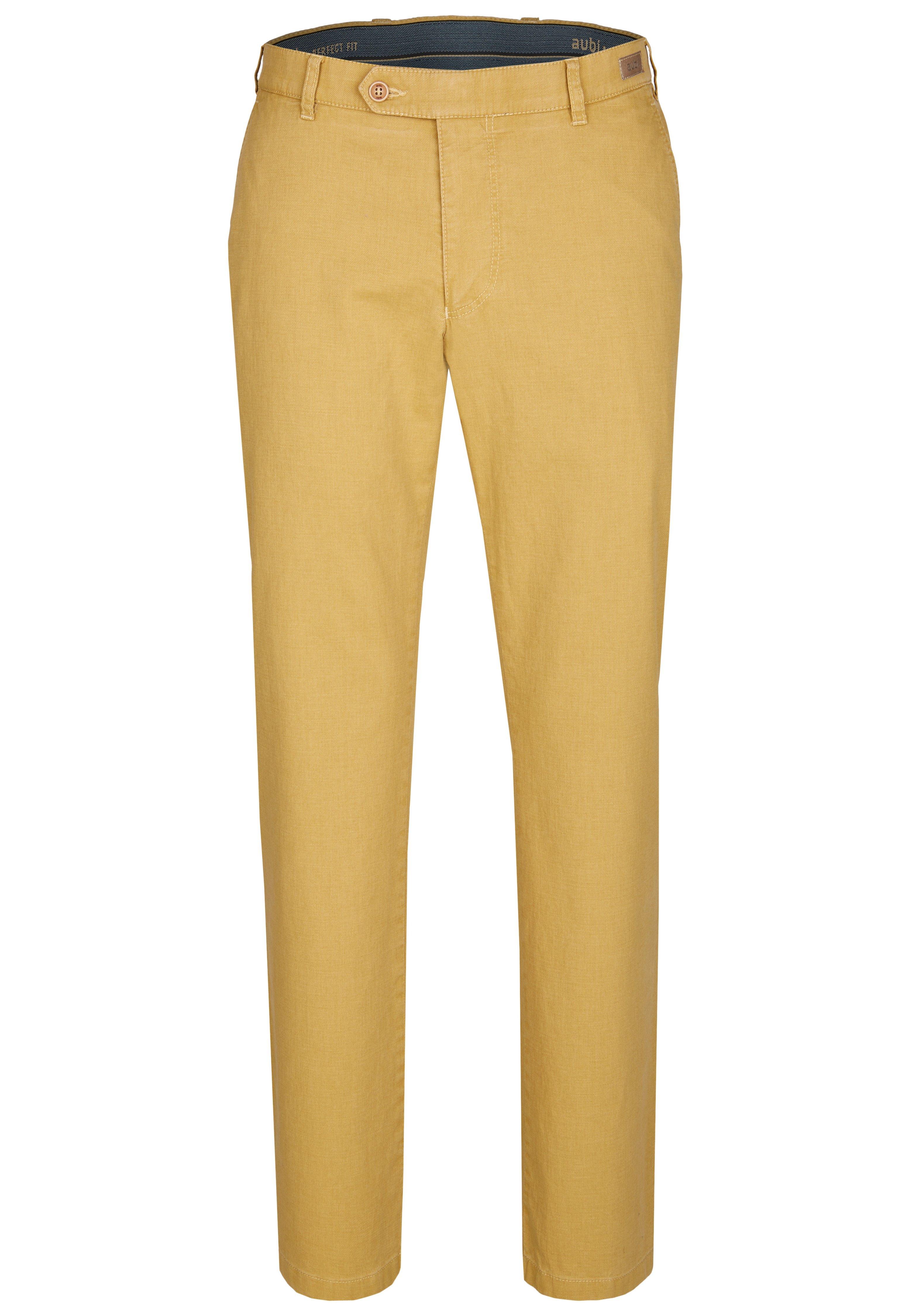 Herren Stoffhose - gelb