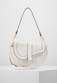 New Look - SHARNI SADDLE BAG - Handbag - white - 0