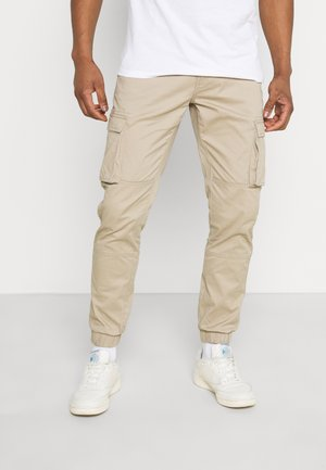 ONSCAM STAGE CUFF - Cargo trousers - chinchilla