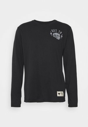 ROCK GET TO WORK  - Longsleeve - black