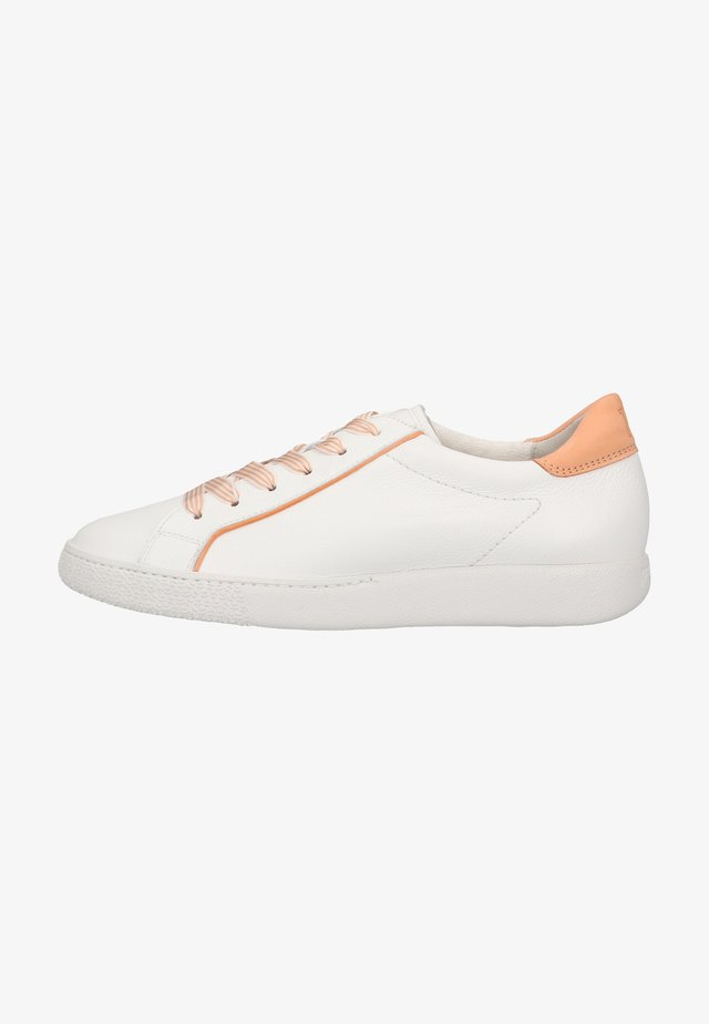 Sneakers laag - weiß/apricot