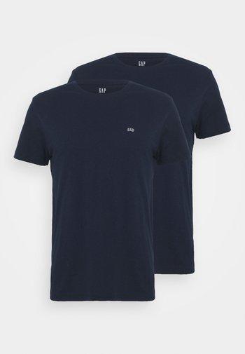CREW 2 PACK - Basic T-shirt - navy combo