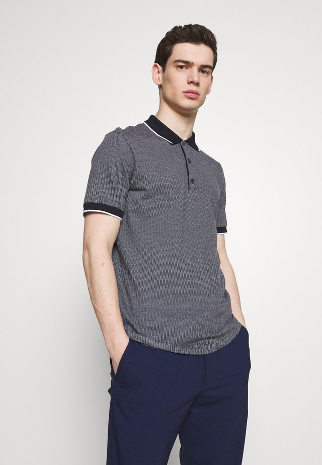 GEO ZELIG JACQUARD - Polo shirt - eclipse/white