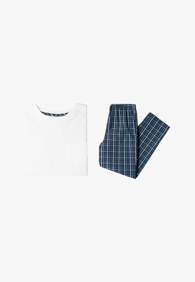 LUIS - Nattøj sæt - blue, white, teal
