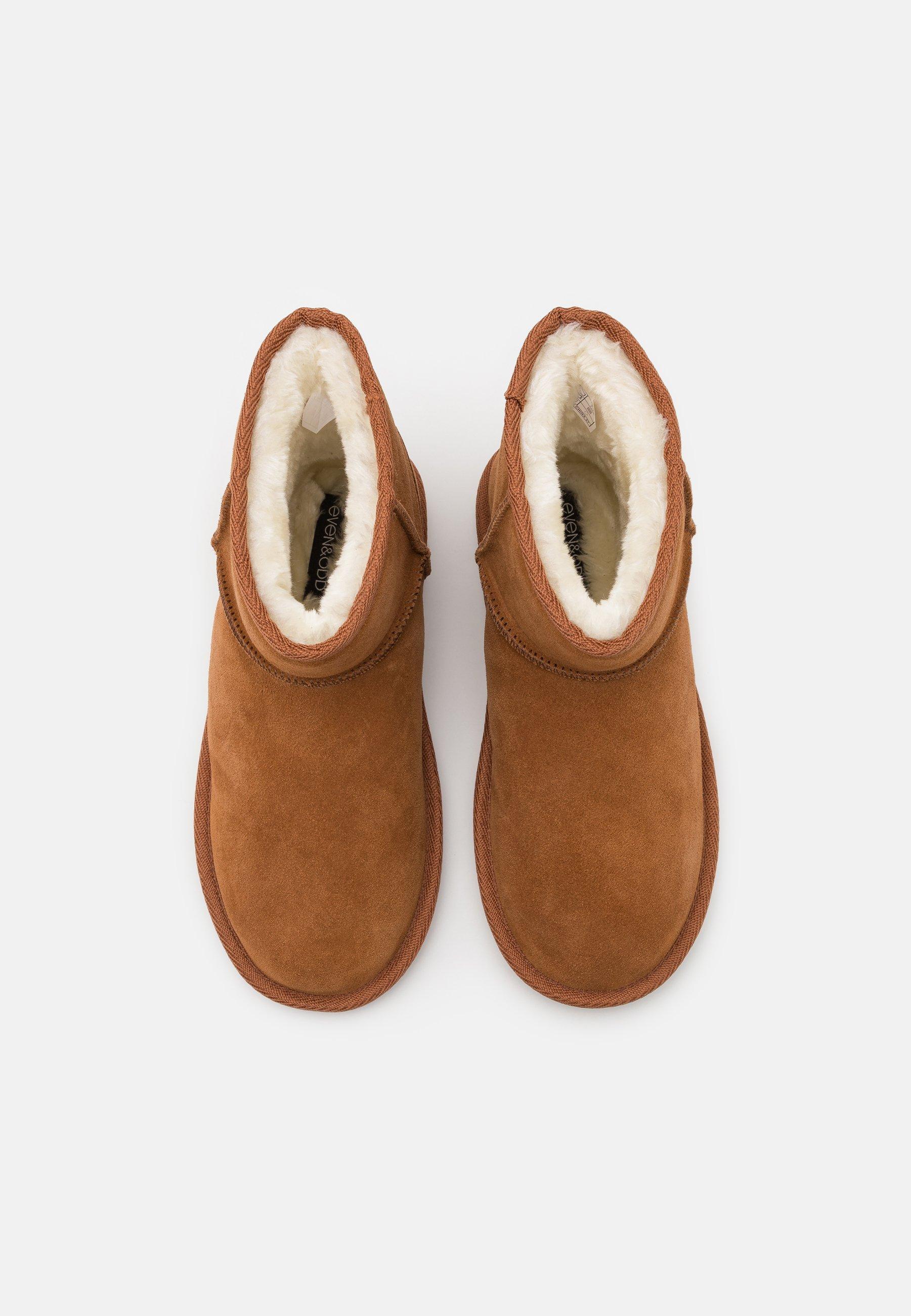 Women LEATHER - Winter boots - cognac