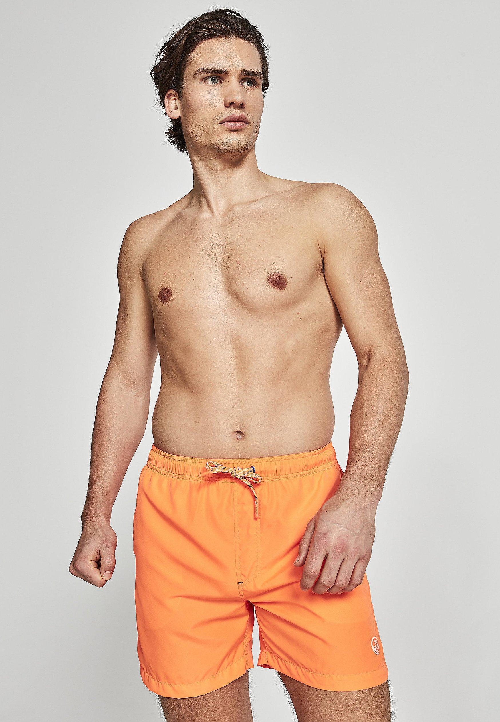 Homme Short de bain - orange fluo