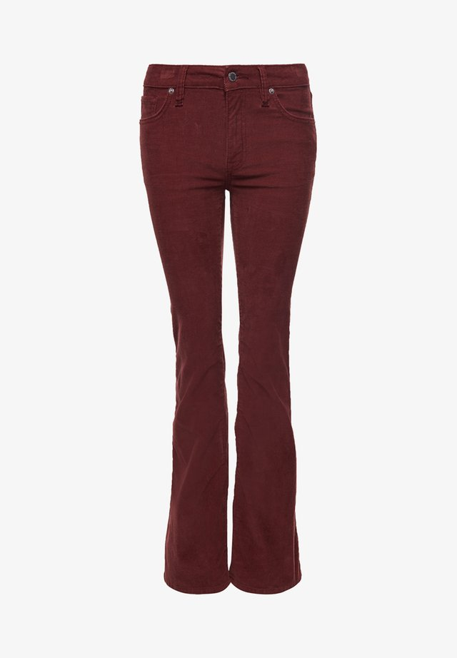 Flared Jeans - russet brown