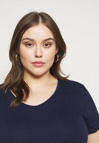 Anna Field Curvy - T-shirt basic - dark blue - 4