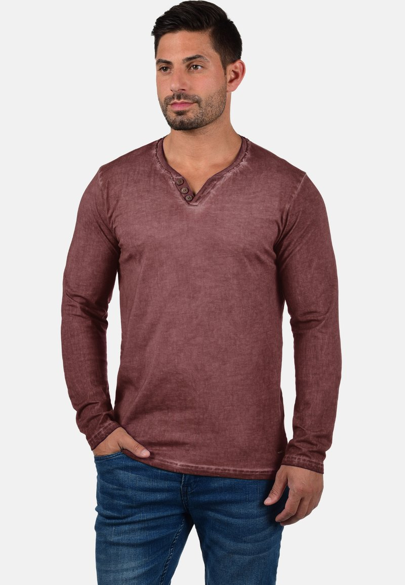 Solid - TINOX - Long sleeved top - wine red