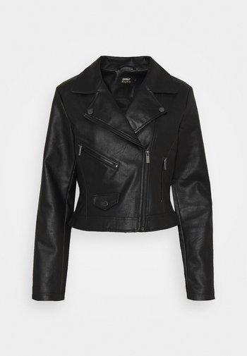 ONLENYA BIKER - Faux leather jacket - black
