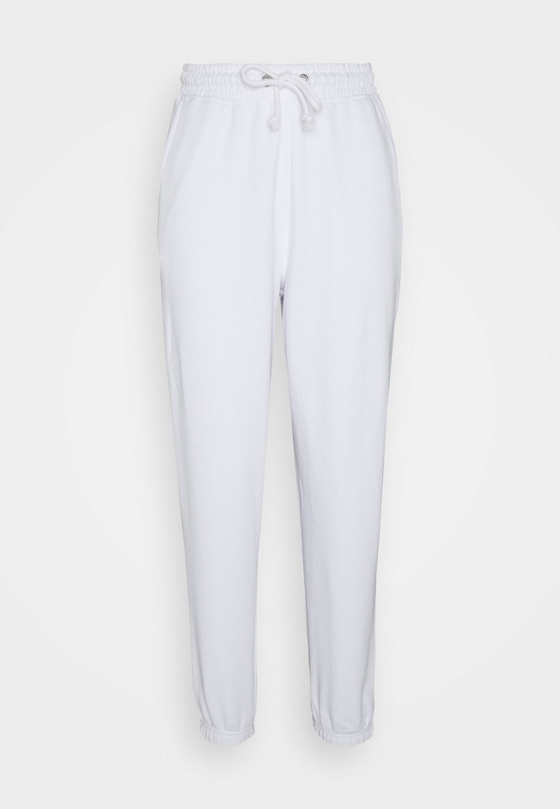 Missguided Petite - OVERSIZED 90S - Pantalon de survêtement - white