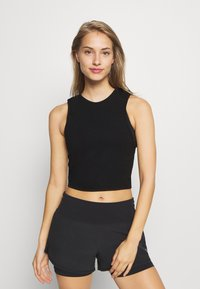 Cotton On Body - LIFESTYLE TIE UP MUSCLE TANK - Top - black - 0