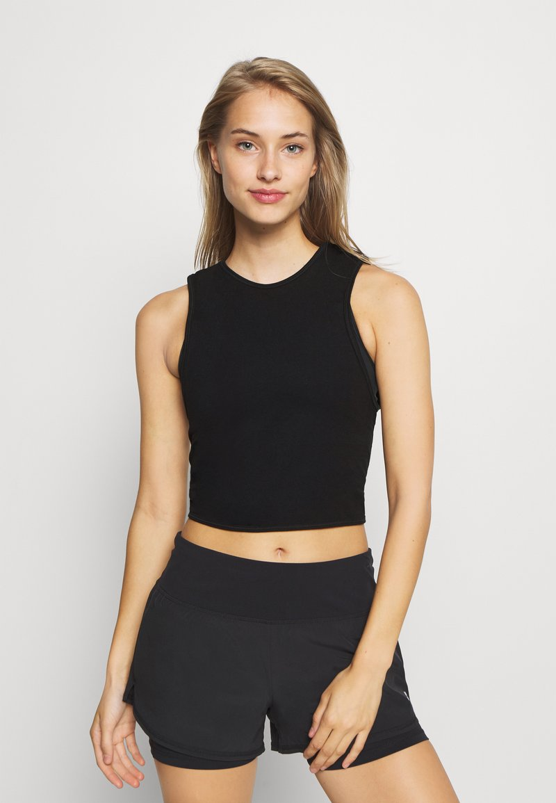 Cotton On Body - LIFESTYLE TIE UP MUSCLE TANK - Top - black