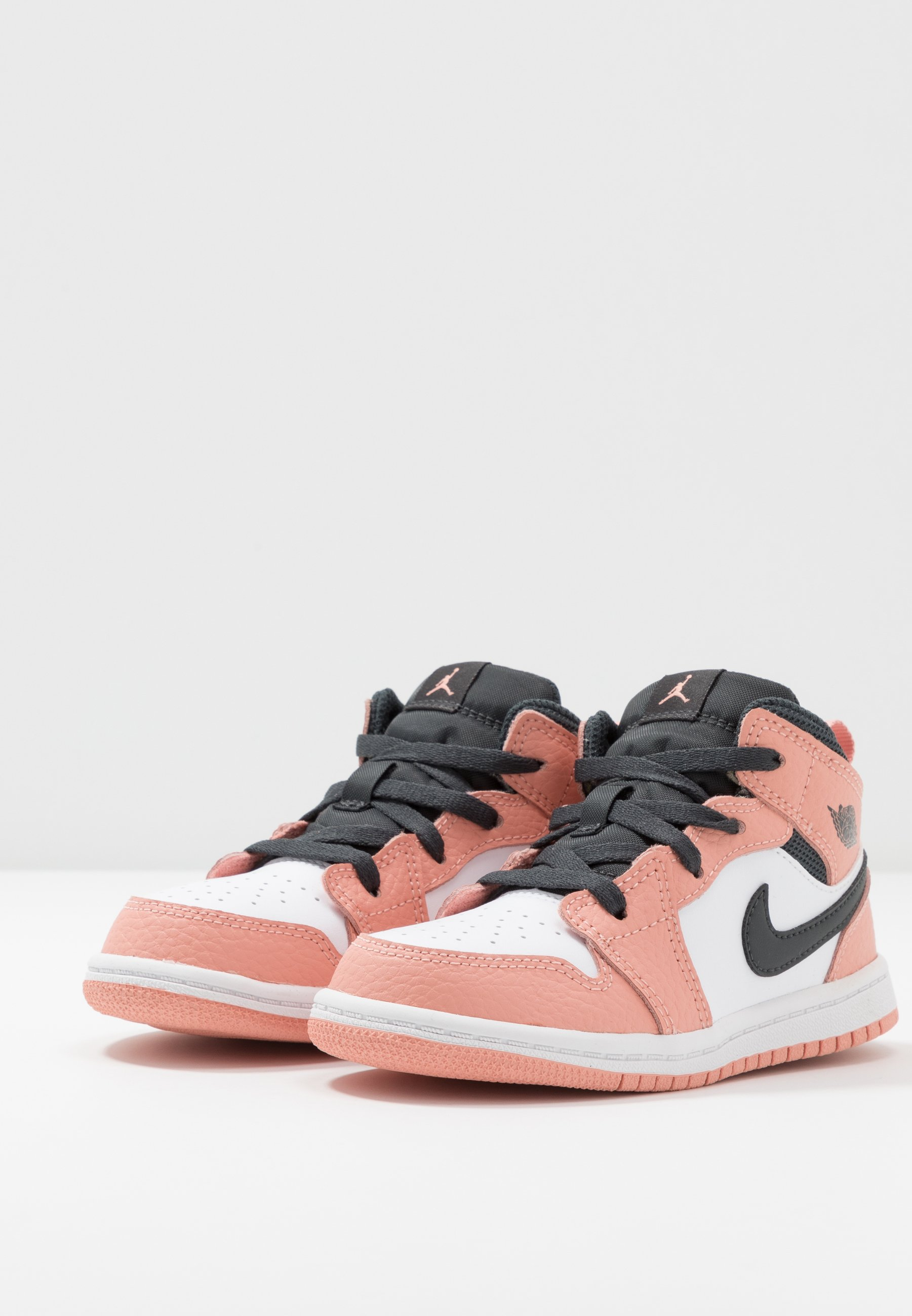 1 MID - Basketball shoes - pink quartz/dark smoke grey/white