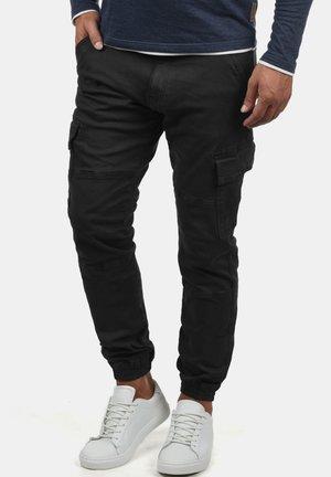 CARGOHOSE BROMFIELD - Cargo trousers - black