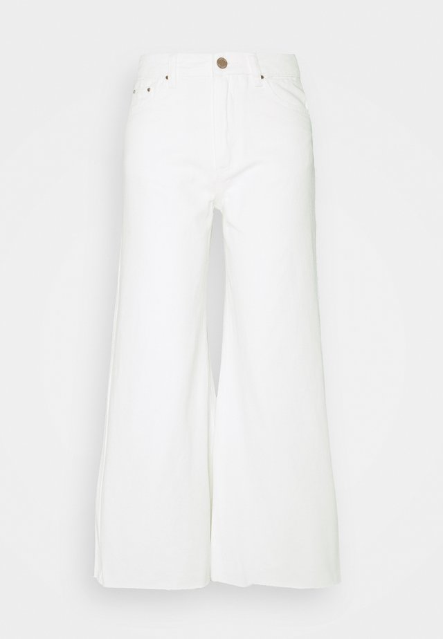FLOOD LEG - Jeans baggy - white