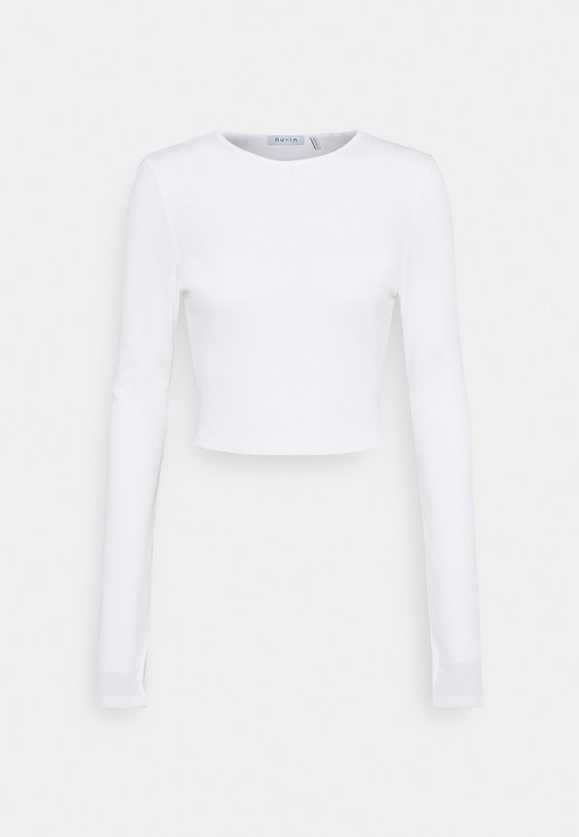 CUTOUT TIE BACK - Langærmede T-shirts - white