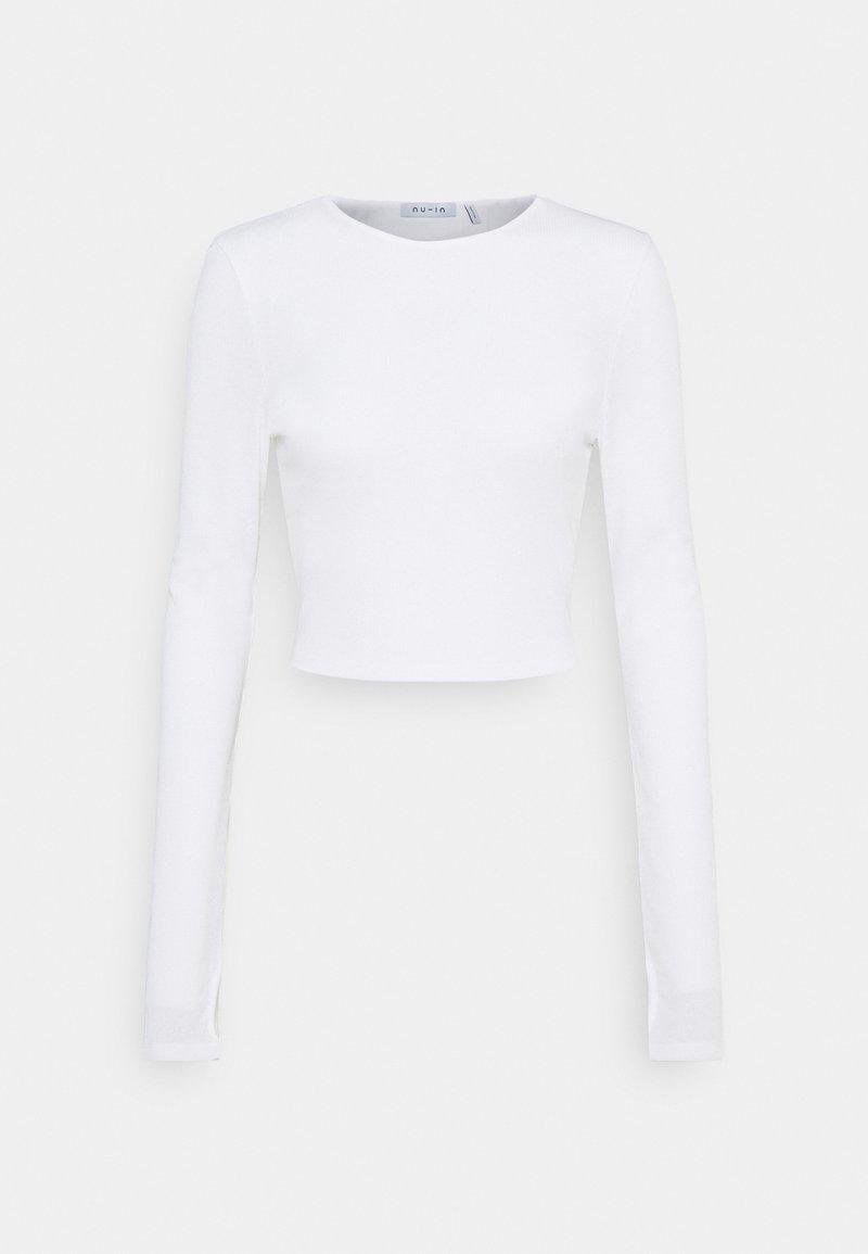 NU-IN - CUTOUT TIE BACK - Bluzka z długim rękawem - white