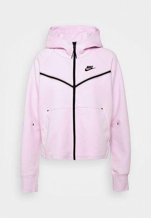 Sweat à capuche zippé - regal pink