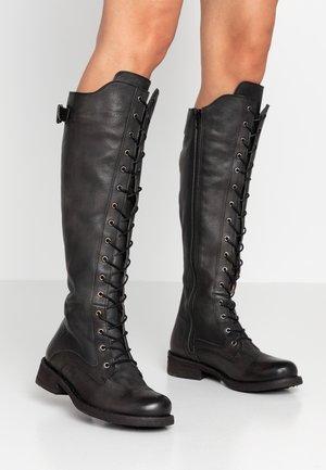 HARDY - Botas con cordones - black