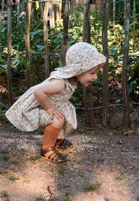 Wheat - Day dress - eggshell flowers - 0