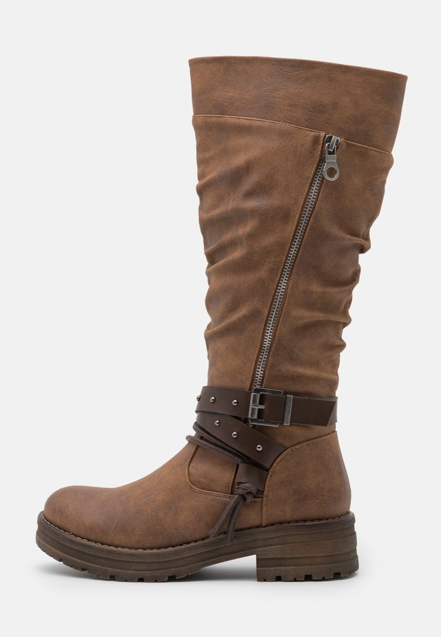 ROMI - Stivali texani / biker - brown