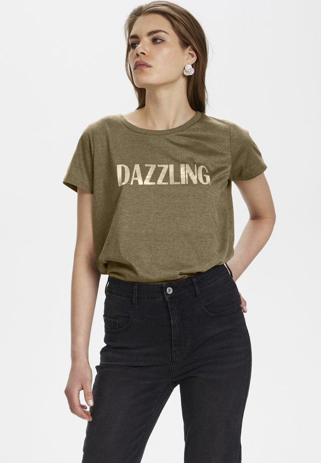 DALLASKB  - T-shirt imprimé - ecru olive