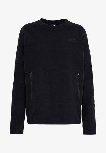 WOMENS GLACIER CREW - Fleece jumper - black