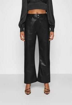 HIGH WAIST PANTS - Trousers - black