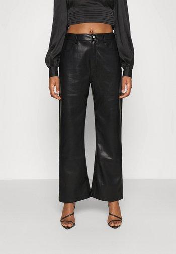 HIGH WAIST PANTS - Trousers - black