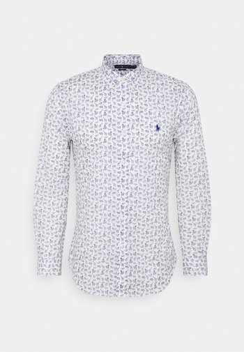 SLIM FIT ARROW-PRINT POPLIN SHIRT - Shirt - offwhite