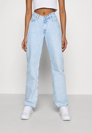 TWIN TROUSERS - Jeansy Straight Leg - summer blue
