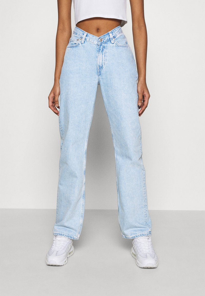 Weekday - TWIN TROUSERS - Straight leg jeans - summer blue
