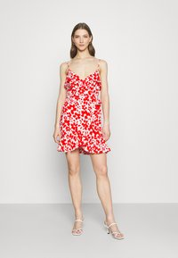 Forever New - BEA RUFFLE MINI DRESS - Robe d'été - ruby - 1