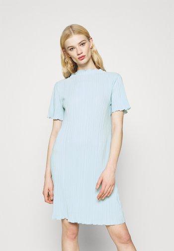 ELAINE PLEAT SHORT DRESS - Day dress - light blue