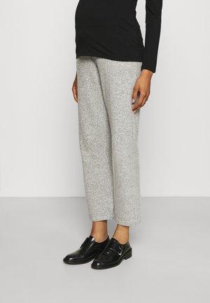 PANTS - Trousers - grey melange