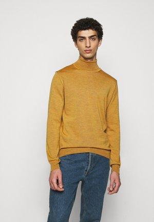 Stickad tröja - dark yellow