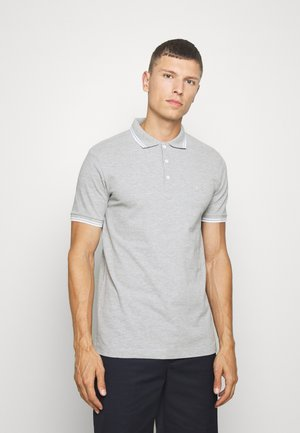 CONTRAST PIPING - Polo shirt - light grey