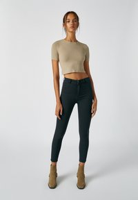 PULL&BEAR - Jeans Skinny Fit - mottled black - 1