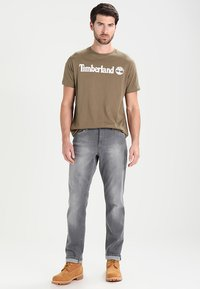 Timberland - CREW LINEAR  - Print T-shirt - capers - 1