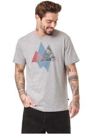 OTAVI - Print T-shirt - mid grey melange