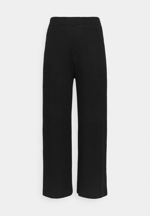 SUPERSOFT WIDELEG TROUSERS - Tracksuit bottoms - black