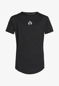 SIKSILK - DANI ALVES CURVED HEM GYM TEE - Print T-shirt - anthracite/white - 3
