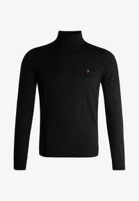 Farah - GOSFORTH ROLL NECK EXTRA  - Stickad tröja - dark asphalt marl - 5