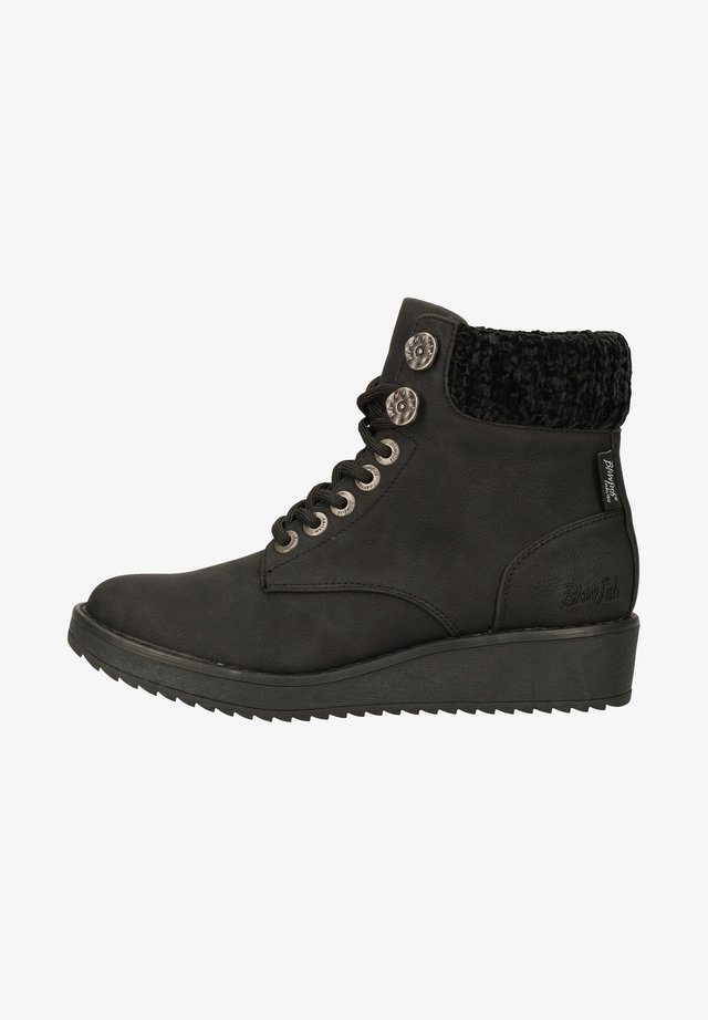 Bottines à lacets - black utah