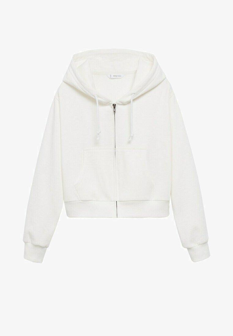 Mango - Zip-up sweatshirt - blanc cassé