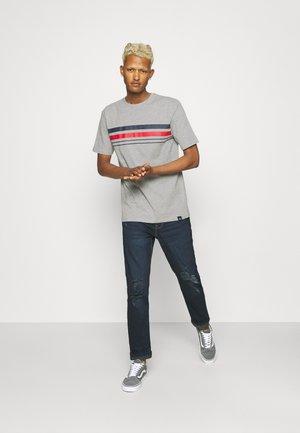 CHEST STRIPE 2 PACK - T-shirts print - navy/grey marl