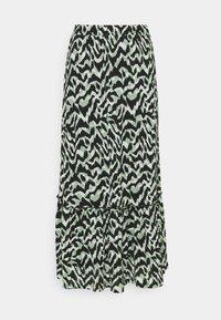 ONLY - ONLPELLA SKIRT - Maxi skirt - black/green milieu - 3